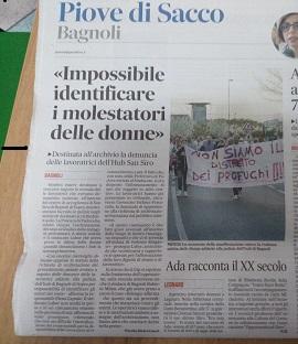 Gazzettino di Padova del 23 settembre 2017